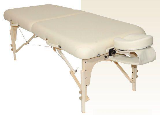 Manual massage table / height-adjustable / folding / portable Heritage Custom Craftworks