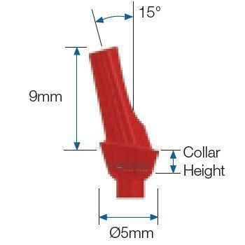 Anatomical implant abutment / angulated / acetal resin / internal hexagon ø 5 mm, 15° | CO-AA151, CO-AA152, CO-AA153 Cortex-Dental Implants Industries Ltd.