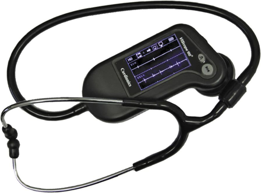 Electronic stethoscope / with multi-parameter monitor ViScope™ Cardionics