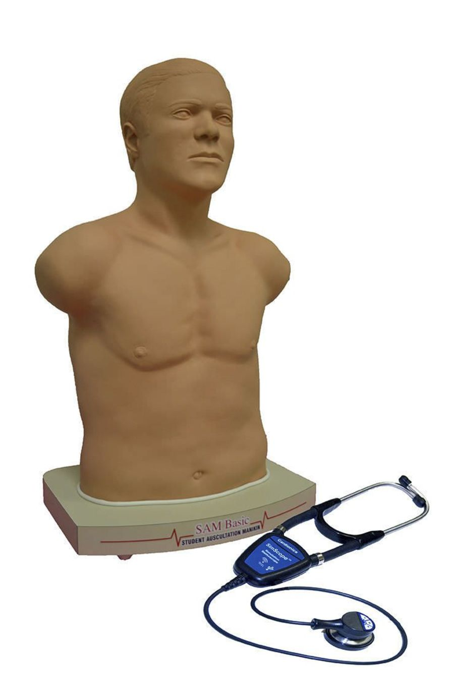 Auscultation training simulator / with sound generator SAM BASIC Cardionics