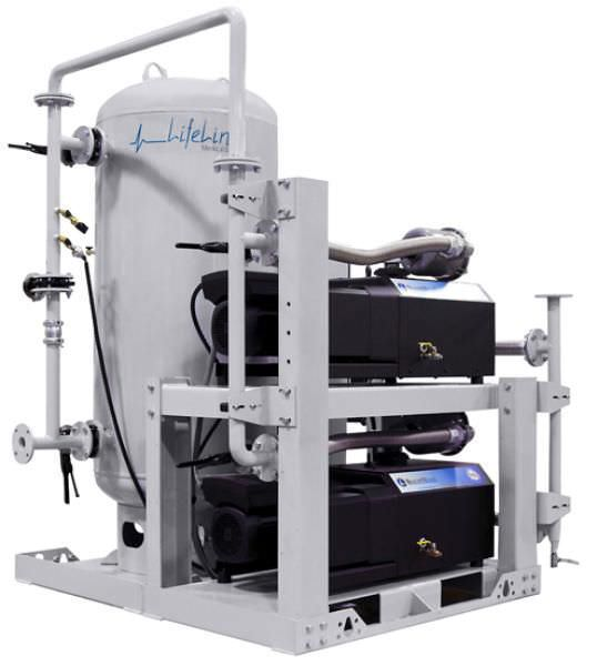 Medical vacuum system / rotary claw / oil-free VHS Beacon Medaes