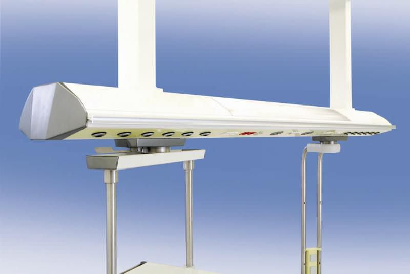 Ceiling-mounted supply beam system Beacon Medaes