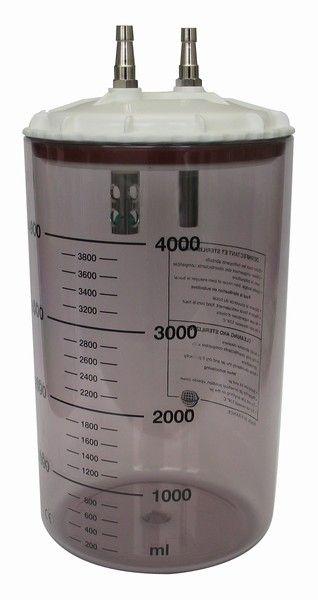 Medical suction pump jar / suction polysulfonate 4 L CHEIRON