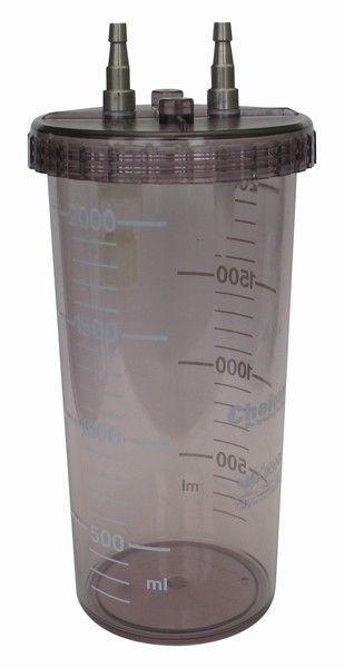 Medical suction pump jar / suction polysulfonate 2 L CHEIRON