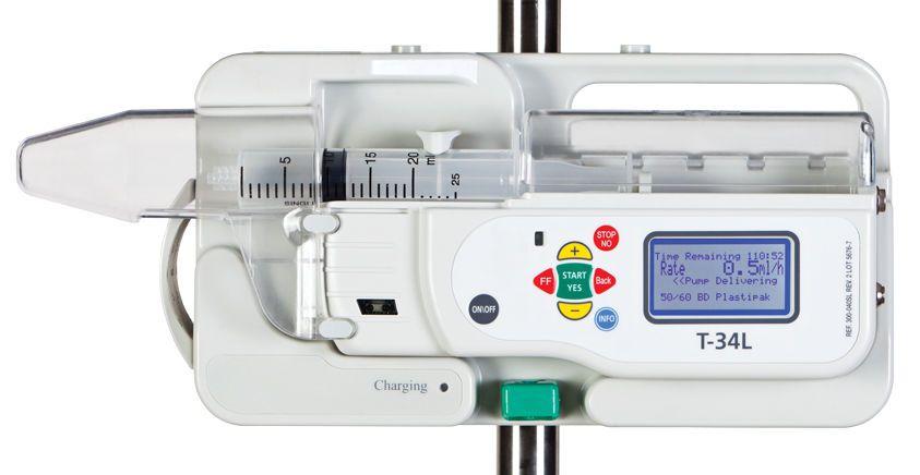 1 channel syringe pump 0.1 - 650 ml/h   T34L™ Caesarea Medical Electronics