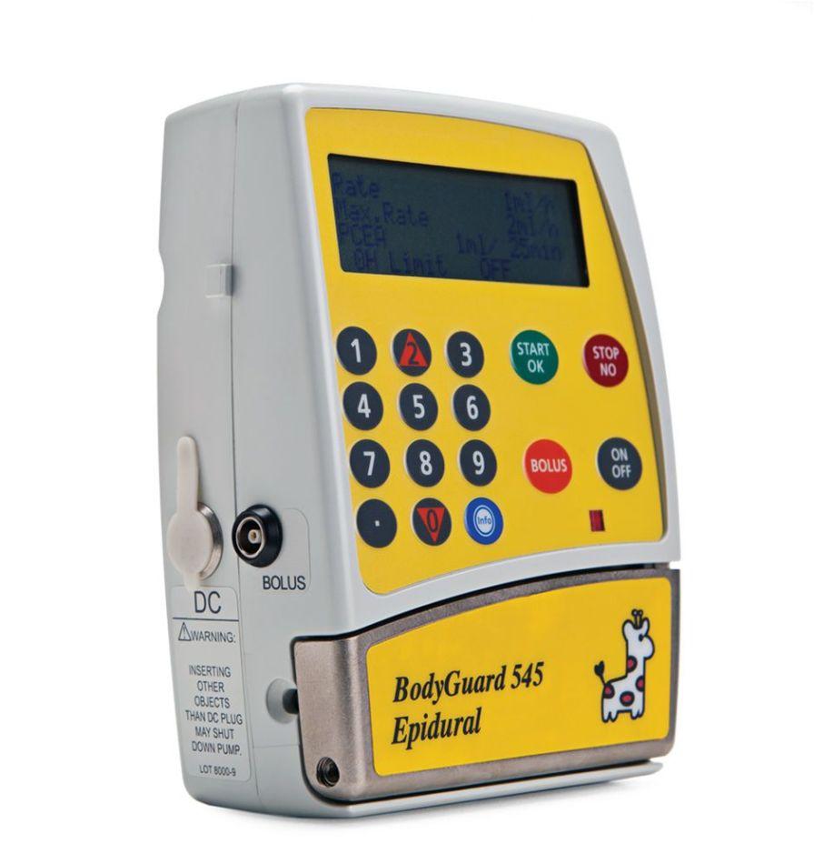 Volumetric infusion pump / 1 channel 0.1 - 30 ml/h   BodyGuard 545™ Caesarea Medical Electronics