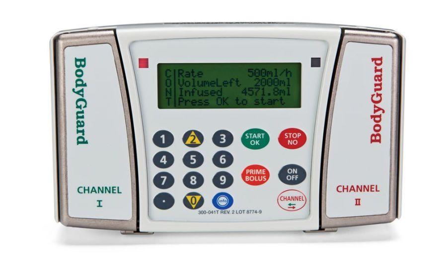 Volumetric infusion pump / 2-channel 0.1 - 1200 ml/h   BodyGuard 121 Twins™ Caesarea Medical Electronics