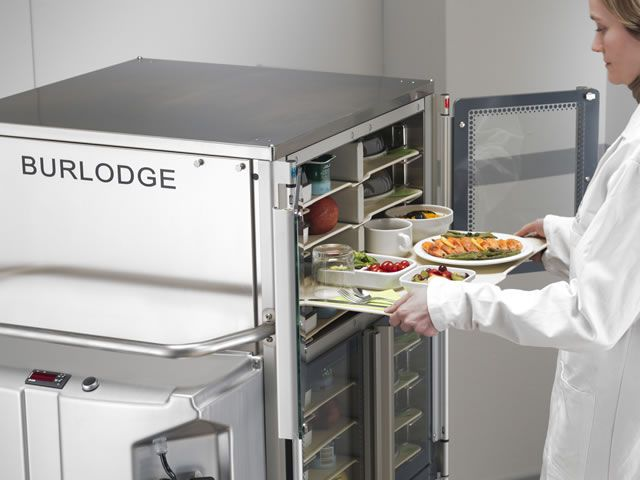 Distribution trolley / meal / with hinged door / closed-structure Optima RS BURLODGE