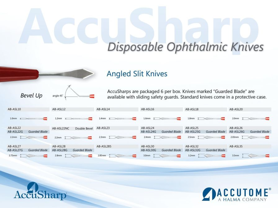 Ophthalmic knife (ophthalmic surgery) ACCUSHARPS Accutome