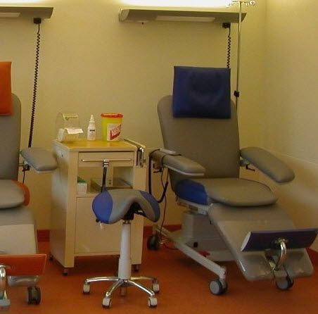Medical stool / on casters / height-adjustable / saddle seat Relax Bionic Medizintechnik