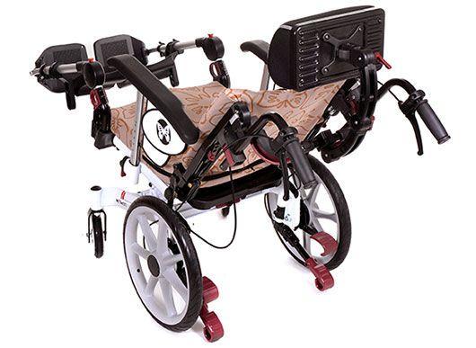 Passive wheelchair / folding / with legrest / with headrest Netti Vision Alu Rehab