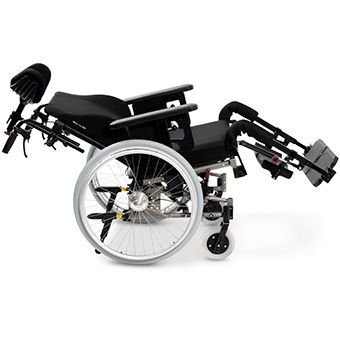 Passive wheelchair / reclining / with legrest / with headrest Netti III comfort HD Alu Rehab