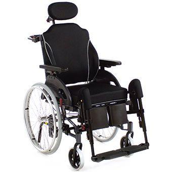 Passive wheelchair / with headrest Netti 4U Comfort CED Alu Rehab