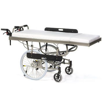 Electrical bed / height-adjustable / 2 sections Alu Rehab