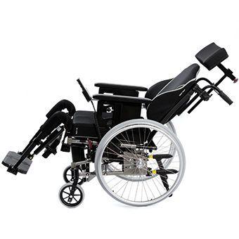 Passive wheelchair / reclining / with legrest / with headrest Netti III comfort EL Alu Rehab