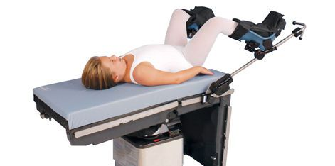 Boot-type leg holder operating table / pediatric Allen Medical Systems
