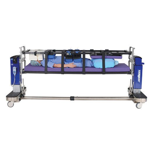 Electro-hydraulic operating table / X-ray transparent / eccentric column Allen® Advance Table Allen Medical Systems