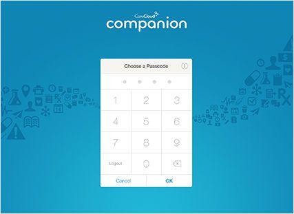 Patient data management iOS application companion CareCloud