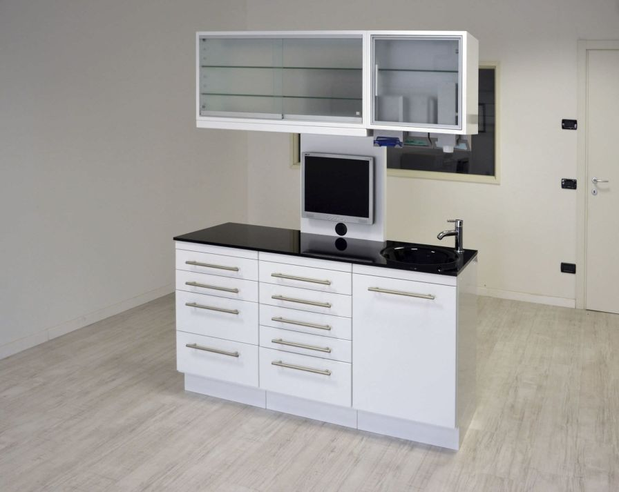 Medical cabinet / dentist office / with sink SERIE QUADRA ARIES s.n.c. di Adda G. & C.