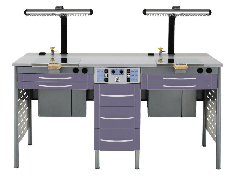 Dental laboratory workstation / 2-station SERIE GLOBO BL2S ARIES s.n.c. di Adda G. & C.