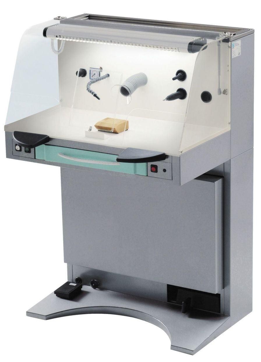 Dental laboratory workstation / with hood / 1-station STARBOX ARIES s.n.c. di Adda G. & C.
