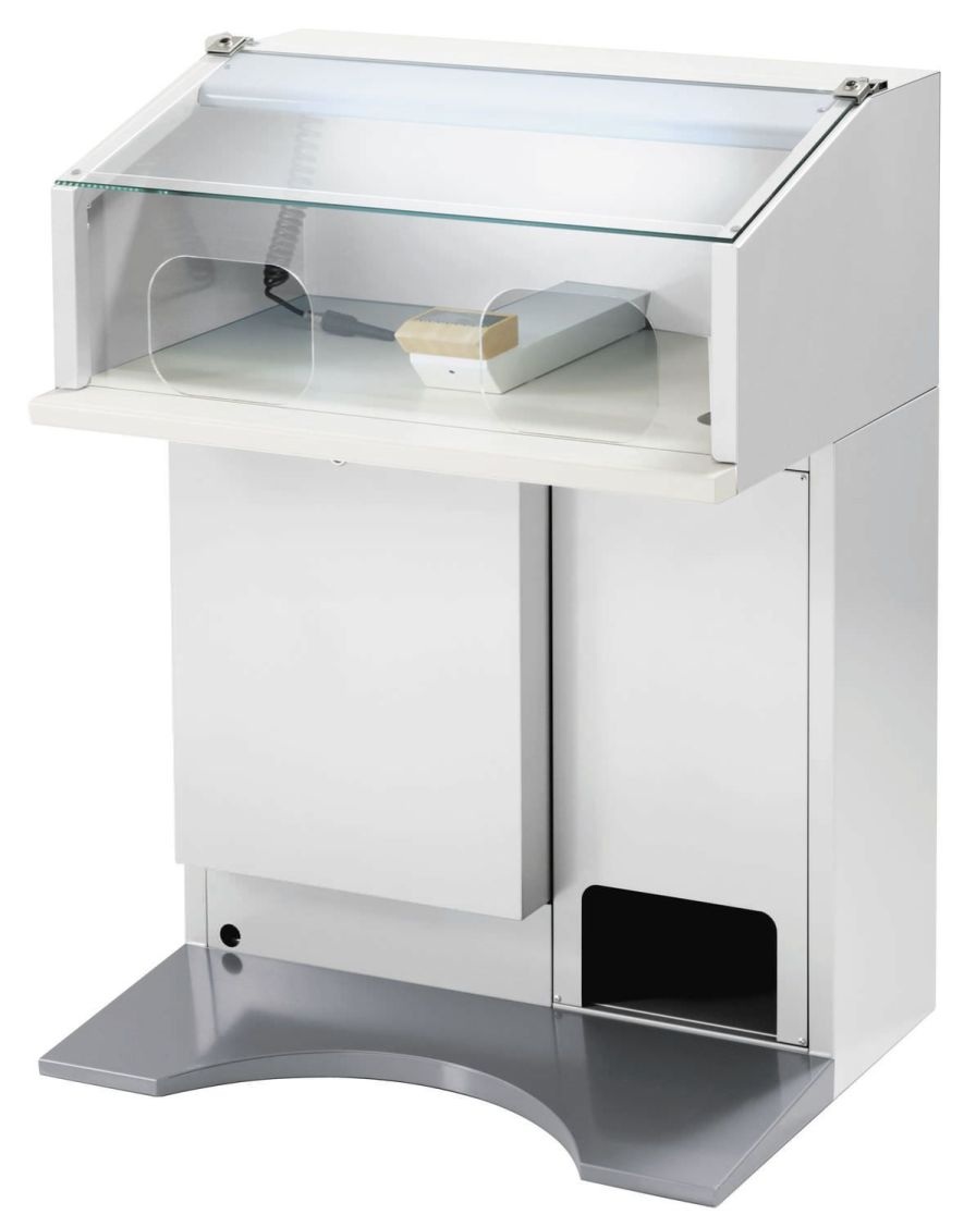 Dental laboratory workstation / with hood / 1-station SERIE GLOBO IBOX ARIES s.n.c. di Adda G. & C.