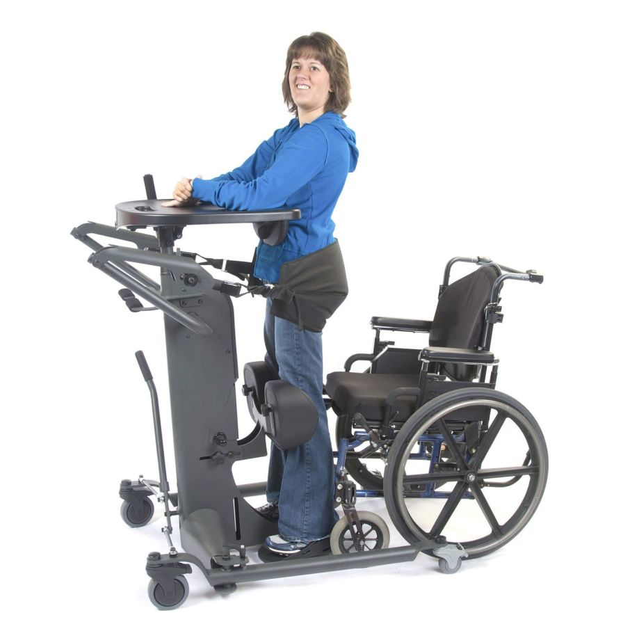Mechanical stander / with harness / walking StrapStand™ Altimate Medical