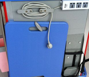 Emergency trolley / storage / with defibrillator shelf / with CPR board BITE002Q BI Healthcare