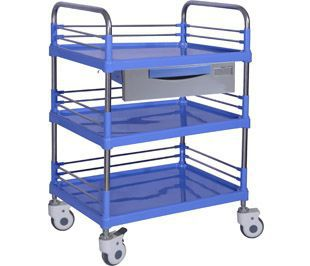 Transfer trolley / dressing / stainless steel / 3-tray BITL004A BI Healthcare