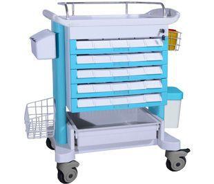 Transfer trolley / medicine distribution / 5-drawer BITM001D BI Healthcare
