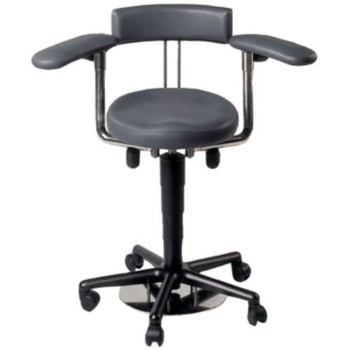 Medical stool / height-adjustable / on casters / with armrests AK 445 akrus