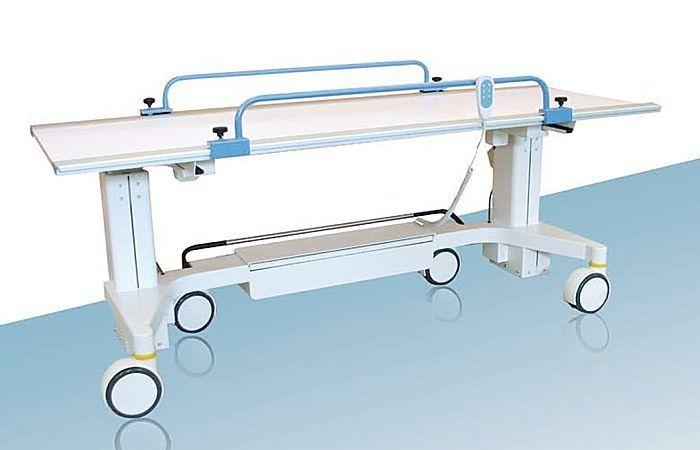 Transport stretcher trolley / X-ray transparent / height-adjustable / electrical EVO003 ARCOM