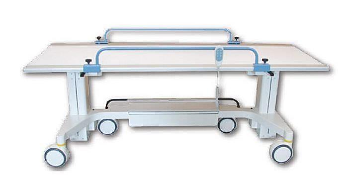 Transport stretcher trolley / X-ray transparent / height-adjustable / electrical EVO002 ARCOM