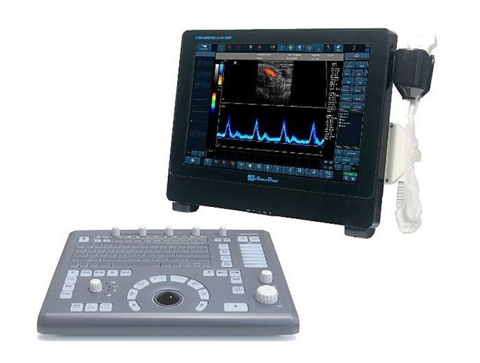 Portable ultrasound system / for multipurpose ultrasound imaging / built-in console / touchscreen COMBOSCAN HD AMBISEA