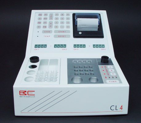 Semi-automatic coagulation analyzer / 4-channel Coagulometer CL 4 Behnk Elektronik
