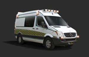 Emergency medical ambulance / type II / van Sprinter 2500 Van TraumaHawk American Emergency Vehicles