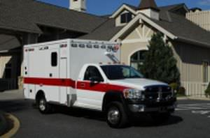 "Emergency medical ambulance / type I / box Ram 4500 148"" TraumaHawk American Emergency Vehicles"