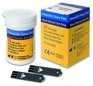 Blood glucose test strip SENSOLITE NOVA TEST 77 Elektronika
