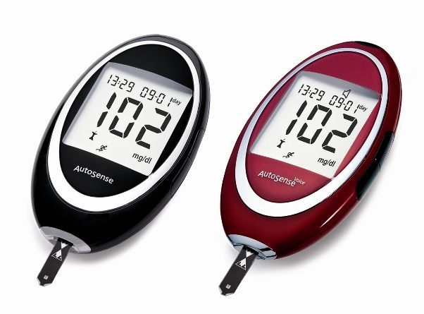 Blood glucose meter with speaking mode AUTOSENSE VOICE 77 Elektronika