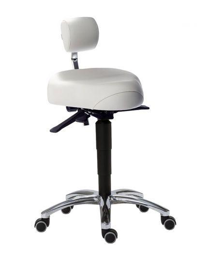 Medical stool / on casters / height-adjustable / T seat CorrectSit Back Quality Ergonomics (BQE)