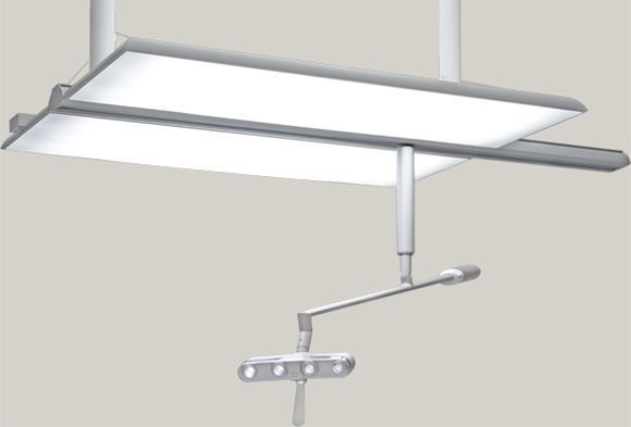 Ceiling-mounted lighting / dentist office / LED / with surgical lamp I See Degré K