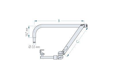 Medical camera support arm / dental AMVDD D.I.D. Dental Instrument Design S.r.l.