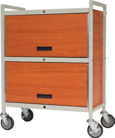 Medical record trolley / closed-structure / horizontal-access / secure Privacyline™ 4822-ELWC Carstens