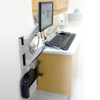Medical monitor support arm / wall-mounted / with keyboard arm 6750-00 Carstens