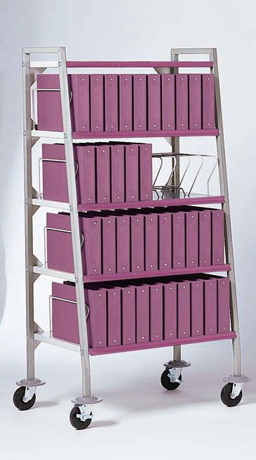 Medical record trolley / vertical-access Design-A-Line® 3177-BR Carstens