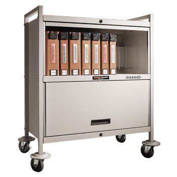 "Medical record trolley / closed-structure / horizontal-access / secure PrivacyLine™ Caddy 34""L Carstens"