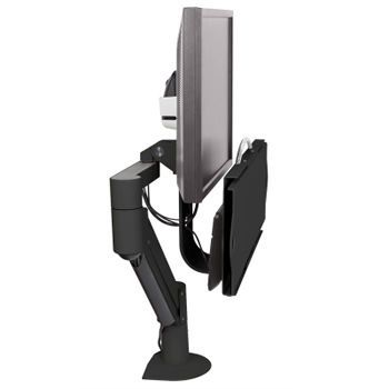 Medical monitor support arm / wall-mounted / with keyboard arm Reach 360° Monitor & Keyboard Configuration Carstens