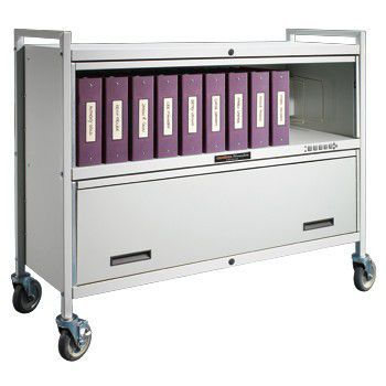 Medical record trolley / closed-structure / horizontal-access / secure Privacyline™ 4824-EL Carstens