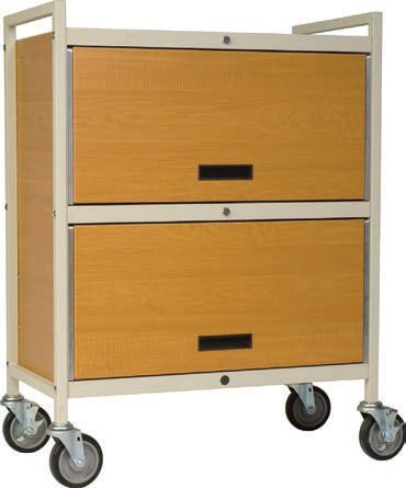 Medical record trolley / closed-structure / secure / horizontal-access Privacyline™ 4722-ELWM Carstens