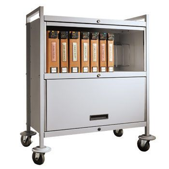 Medical record trolley / closed-structure / secure / horizontal-access Privacyline™ 4822-00 Carstens